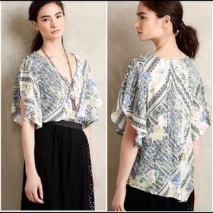 Maeve   Anthro Flutter top. Size 6.